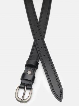Женский ремень кожаный Laras CV10W35 100 см Черный (ROZ6400030383)