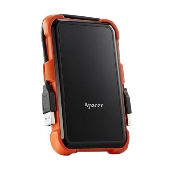 "Жорсткий диск HDD ext 2.5"" USB 1.0 TB Apacer AC630 Black/Orange (AP1TBAC630T-1)"
