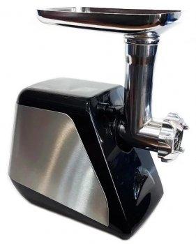 Електрична м'ясорубка з насадками Domotec MS-2022 2800W Чорна з сріблястим (par_MS 2022)