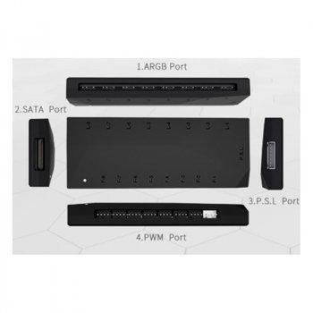 Хаб для вентиляторів ID-Cooling ARGB PWM HA-02