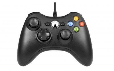 Провідний USB Контролер Microsoft Xbox 360 чорний