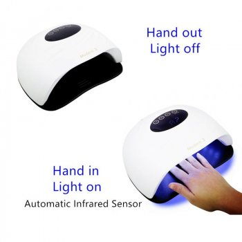 Гель Лампа для ногтей с вентилятором UV/LED Modern 3 на 90 Вт white