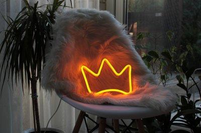 Неоновий світильник Neon Lightning «Корона» Жовтий