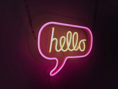 Неоновий світильник Neon Lightning «Hello»