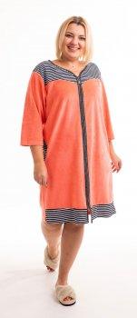 Халат Bonita женский велюровый цвет пудровый с черно-белым
