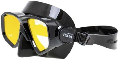 Маска с просветленным стеклом Marlin Vega Black + Yellow Lens (016178)