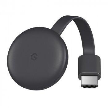 Цифровой медиаплеер Google Chromecast Video, третье поколение - чёрный (1080p / 60 Гц.) (GA00439-US)