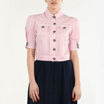 Джинсова куртка Nenette 29TJSERENELLAROSE короткий рукав рожева