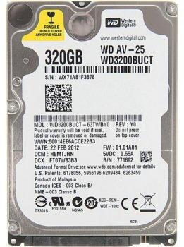Жорсткий диск для ноутбука Western Digital 320GB 5400rpm 16MB WD3200BUCT 2.5 SATA II