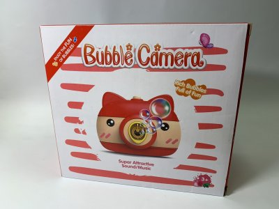 Дитячий фотоапарат для мильних бульбашок, генератор Bubble Camera блакитний