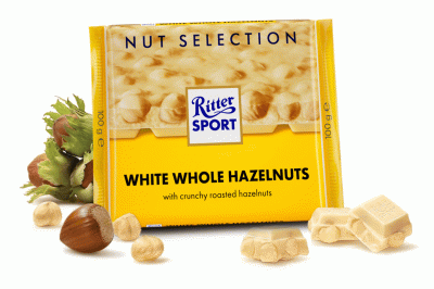 Шоколад Ritter Sport Nut Selection Білий з цільними лісовими горіхами 100 г * 5 шт
