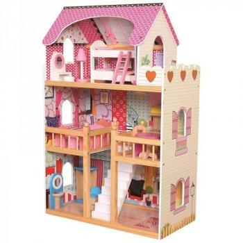 Іграшковий будиночок для ляльок Bino з меблями (83554)