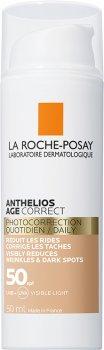 Антивозрастное солнцезащитное средство для чувствительной кожи лица La Roche-Posay Anthelios Age Correct Tinted против морщин и пигментации SPF50 50 мл (3337875764353)