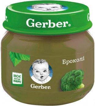 Пачка овочевого пюре Gerber Броколі від 6 місяців 80 г х 6 шт. (7613287165442)