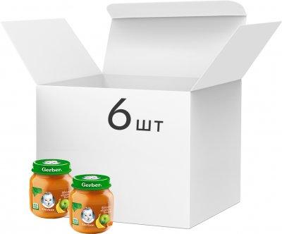 Упаковка фруктового пюре Gerber Яблуко, абрикос і банан з 6 місяців 130 г х 6 шт. (7613287166968)