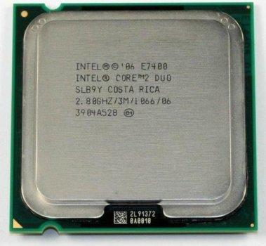 Процесор Intel Core 2 Duo E7400 (S775/2x2.8GHz/3MB/65 Вт/BX80571E7400) Б/У