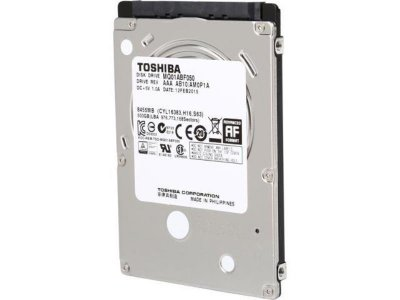 """Жорсткий диск для ноутбука Toshiba 500 Gb (2.5"""", 8Mb, 5400 об/хв, SATA II, MQ01ABF050) Б/У"""