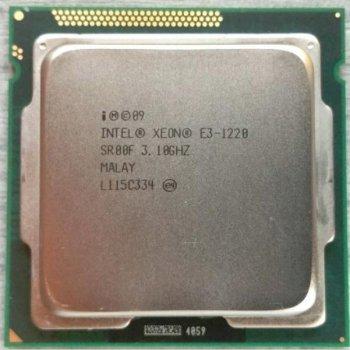 Процессор Intel Quad-Core Xeon E3-1220 (S1155/4x3.1GHz/5GT/s/8MB/80Вт/BX80623E31220) Б/У