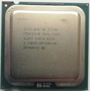 Процесор Intel Pentium Dual Core E5200 (S775/2x2.5GHz/2MB/65 Вт/BX80571E5200) Б/У