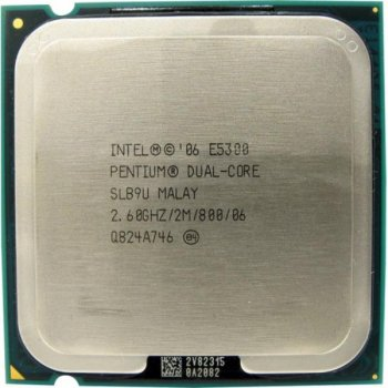 Процесор Intel Pentium Dual Core E5300 (S775/2x2.6GHz/2MB/65 Вт/BX80571E5300) Б/У