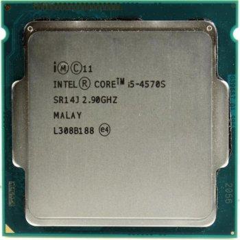 Процессор Intel Core i5-4570S (S1150/4x2.9GHz/5GT/s/6MB/65Вт/BX80646I54570S) Б/У