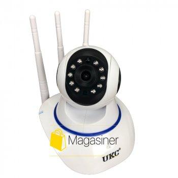 IP камера видеонаблюдения WiFi UKC Q6 автономная для дома поворотная панорамна вай фай видеокамера p2p smart (1618)