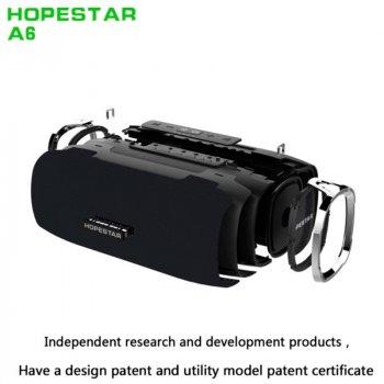 Портативна бездротова Bluetooth колонка Hopestar A6 35Вт Black з вологозахистом IPX6 і функцією зарядки пристроїв (A6B)