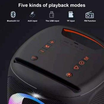 Портативна бездротова Bluetooth колонка Hopestar Party 100 50Вт Black з вологозахистом IPX7 бездротовим мікрофоном і функцією зарядки пристроїв (P100H)