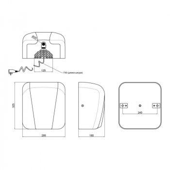 Сушилка для рук Qtap Susici S1800MP 1800 Вт