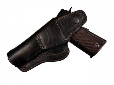 Кобура для Colt 1911 поясна не формована Beneks Шкіра Чорна