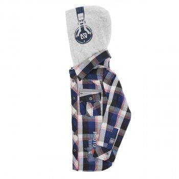 Рубашка NANO F1411-05 сине-серый (F1411-05)