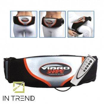 Пояс массажер Vibro Shape для похудения - электрический массажный вибромассажер и коррекции фигуры живота ног портативный с эффектом сауны, Разноцветный
