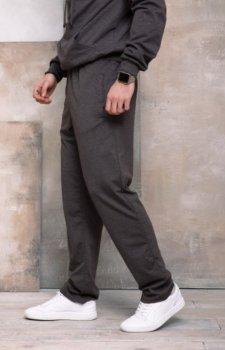 Мужские трикотажные спортивные штаны прямого кроя ISSA PLUS GN-407 Темно-серый