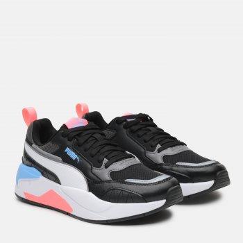 Кроссовки Puma X-Ray 2 Square 37310818 Black-White-Team Light Blue-Luminous Peach