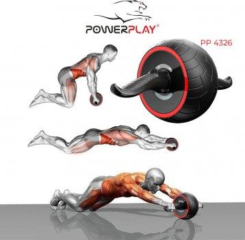 Колесо для преса PowerPlay 4326 зі зворотним механізмом Чорно-червоне (PP_4326_Black/Red)