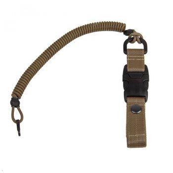 Страхувальний шнур EDCX із карабіном швидкознімний (YKK) FSC0004 Coyote Brown