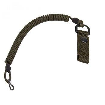 Страхувальний шнур EDCX із карабіном, та кріпленням на пояс FSC0003 Олива (Olive)