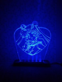 3D світильник-нічник Zayaka Sailor Moon Сейлор Мун Аніме RGB 15 кольорів 125