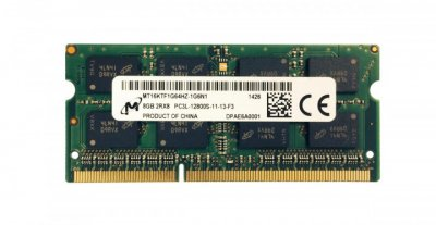 Оперативна пам'ять MICRON DDR3 SO-DIMM 1600 8Gb C11 - (MT16KTF1G64HZ-1G6N1)