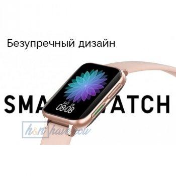 Смарт-часы Smart Watch NO.1 DTX - Pro с тонометром, пульсоксиметром, ЭКГ с полноразмерным дисплеем 1.78 дюйма, Розовый (DP 0174386)