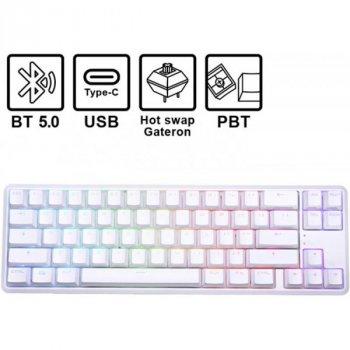 Клавиатура Hator Skyfall Hex ENG (HTK-667) White USB