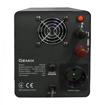 ПБЖ Gemix PSN-500 (PSN500VA), Lin.int., LCD, 1хEURO, метал