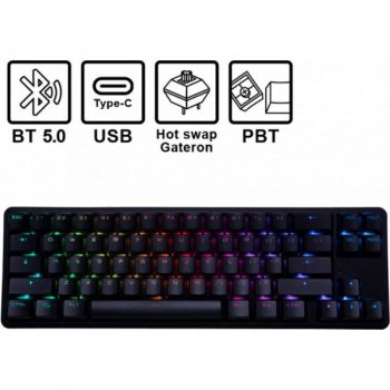 Клавиатура Hator Skyfall Hex ENG (HTK-665) Black USB