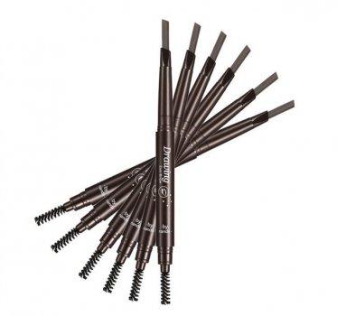 Олівець для брів плоский зі щіточкою № 02