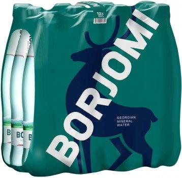 Упаковка минеральной лечебно-столовой сильногазированной воды Borjomi 0.5 л х 12 бутылок (4860019001353)