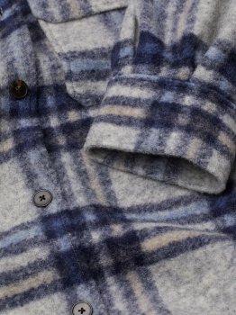 Пальто H&M 8915912dm Синє із сірим