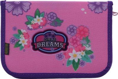 Пенал Class Girl's Dreams 1 отделение 2 отворота пустой (98200/8591662982008)