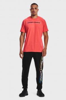 Мужские черные спортивные брюки UA RIVAL FLC LOCKERTAG JGS Under Armour 1361637-001