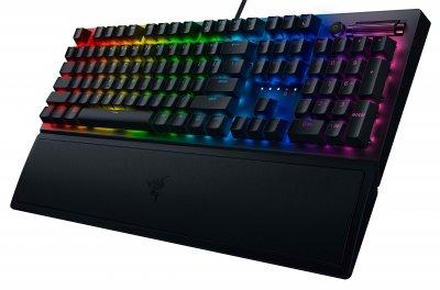 Клавіатура дротова Razer BlackWidow V3 Razer Yellow Switch USB Black RU (RZ03-03542100-R3R1)