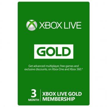 Підписка Xbox Live Gold Золотий Статус на 3 місяці, (Всі Країни)